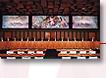 Grande sala de audiências – Três dos seis painéis realizados especialmente para o Tribunal de Justiça pelo pintor francês André Hambourg