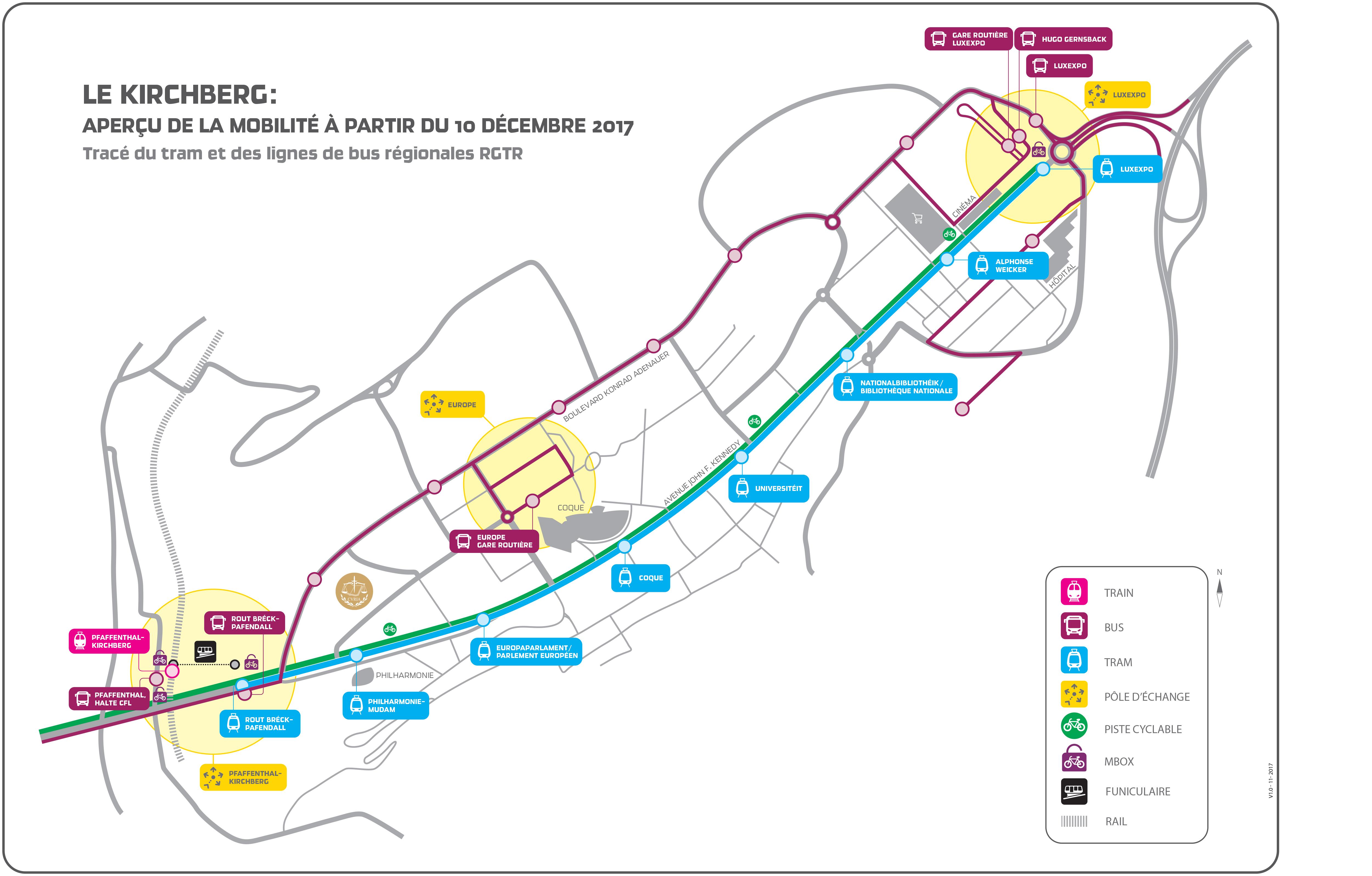 tram plan kirchberg