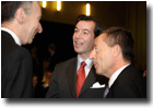 Mr Josef Azizi, HRH The Hereditary Grand Duke and Mr Marc Jaeger