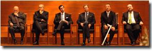 M. Jean-Luc Dehaene, M. Vassilios Skouris, S.A.R. le Grand-Duc héritier, S.A.R. le Grand-Duc, M. Marc Jaeger et M. François Biltgen